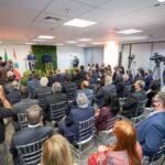 Autoridades e imprensa marcaram presença em cerimônia de inauguração do Consulado Honorário do Líbano em Campinas. Ao microfone, o cônsul honorário do Líbano em Campinas, Miled El Khoury