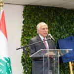 Presidente Michel Temer, filho de imigrantes libaneses que chegaram ao Brasil na década de 1920, fala ao público do evento